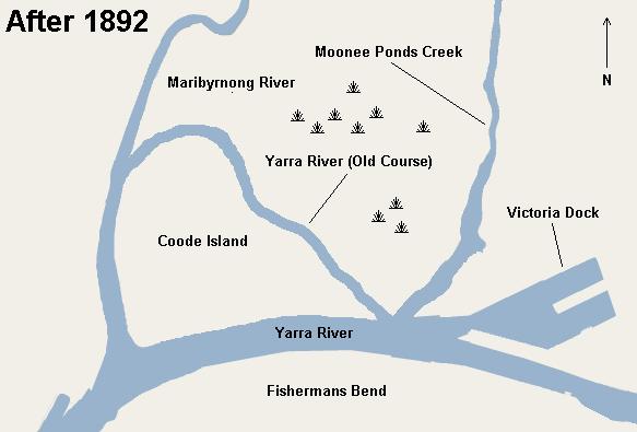 Yarra River Docklands in 1882