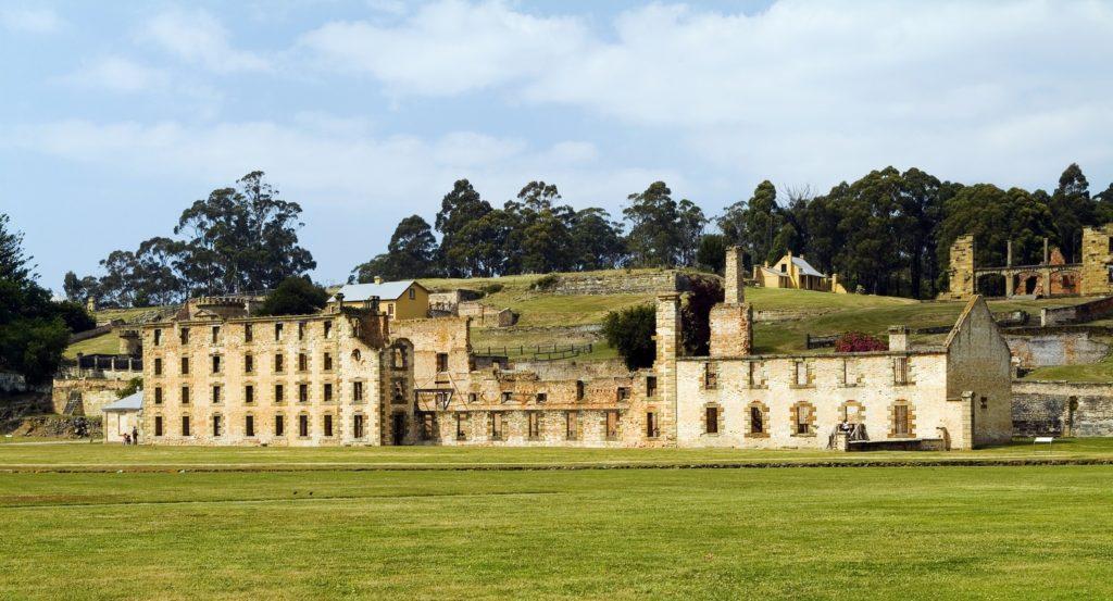 One of Port Arthur's largest buildings, the Penitentiary still looks impossing today. Tasmania, Australia.