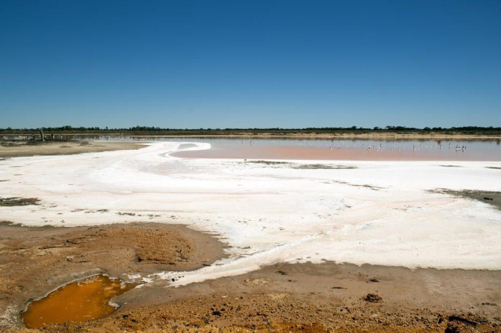 Salt lake, evidence of drought in rural Australia