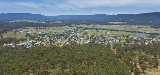 Aerial Photograph Of The Township Of Millfield In The Hunter Region