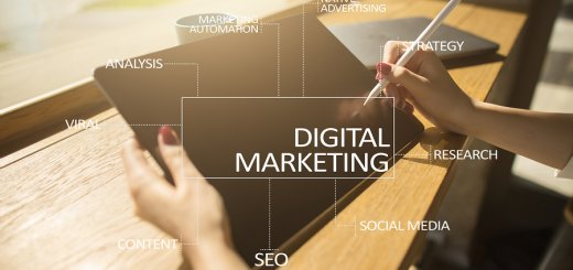 Digital Marketing Technology Concept. Internet. Online. Search
